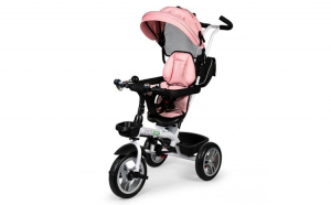 Tricicleta pentru copii, cu maner, scaun