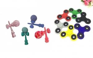 Pachet 2 Jucarii: Kendama Cracker + Fidget Spinner