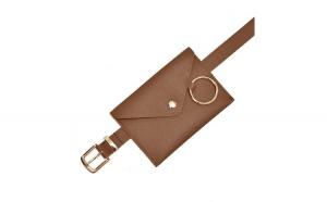 Borseta din piele naturala, waist bag, maro