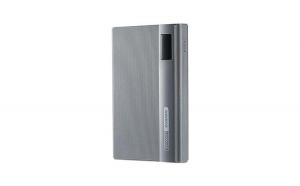 Set Baterie externa portabila Remax Linon Pro, 10.000 mAh, Gri si Adaptor Priza Centenar