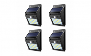 Set 4 lampi solare, 30 Led cu senzor