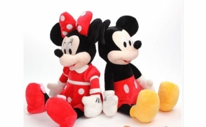 Set 2 plusuri Mickey si Minnie, 30cm, muzicale