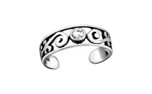 Inel de picior din argint,  Texturat, Silver Reglabil, A4S29418