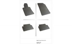Covoare cauciuc PEUGEOT 508 2011-> (0630 P40)