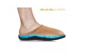 Papuci de casa cu gel, anti oboseala