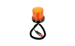 Girofar flash portocaliu 24V cu magnet-Premium (tractare , cisterene , transport agabaritic )