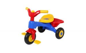 Tricicleta pentru copii, Cos pentru depozitare, Plastic rezistent, Culori vesele, Pedale anti alunecare