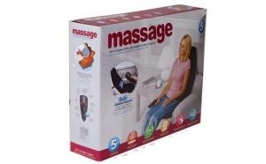 Saltea cu masaj si incalzire pentru masina sau acasa, cu 5 puncte de incalzire