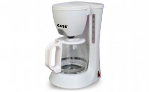 Cafetiera Zass ZCM 02 White, 600W, 0,6L, 4-6 cesti, Sistem anti-picurare, Alb