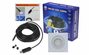 Camera endoscop 7 mm pentru telefoane mobile si PC, cablu 5m