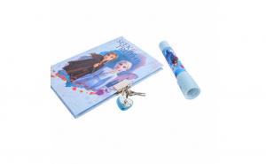 Set Agenda fetite cu Frozen Ana Elsa