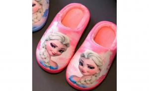 Papuci de casa Frozen fetite imblaniti