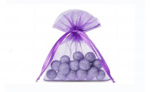 Saculeti organza, 5x7 cm, 25 bucati, Dark Purple , OBAGSMALL