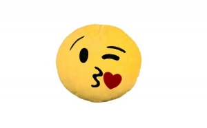 Perna emoticon, plus, Winking Eye cu inimioara, 25 cm