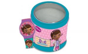 Ceas Junior WALT DISNEY KID WATCH Model DOC MCSTUFFINS (Dott.essa Peluche) - Tin Box 561146