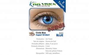 Lentile de contact albastre in 2 tonuri, cu contur si aspect intens, la 65 RON in loc de 160 RON. Recomandate pentru toate tipurile de ochi