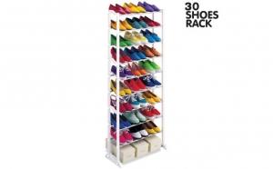 Pantofar 30 Shoes Rack. Este foarte rapid si usor de asamblat. Va veti putea gasi pantofii cu usurinta si pastra dressingul sau dormitorul curate, la doar 88 RON in loc de 256 RON. Video prezentare