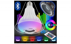 Bec LED Disco cu Boxa 3W, Bluetooth, Cadouri Craciun, Persoana iubita
