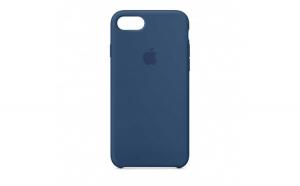Husa iPhone 7 Plus   8 Plus Albastru Carcasa Silicon Premium Slim Logo