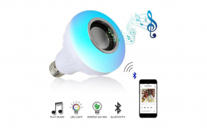 Bec led Smart cu difuzor,12W, dulie normala, Bluetooth, telecomanda