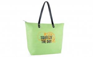 Geanta pentru plaja, verde, 48 x 37 cm, Squeeze The Day, BB1019, Vivo