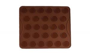 Tava din silicon, pentru macarons si fursecuri, Vanora, 27 forme