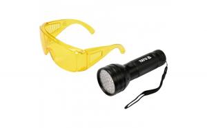 Lampa UV cu ochelari speciali detectare