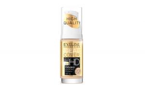 Fond de ten, Eveline Cosmetics, High Quality, Ideal Cover FULL HD 16h, SPF 10, 201 Ivory, 30 ml