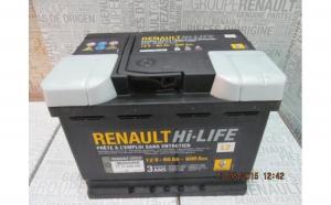 Baterie auto 60 Ah 600 A(EN) 12V Originala Renault 7711238597