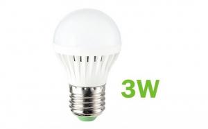 Bec LED SMD 3W economic, dulie E27, 6500K ( Lumina Rece), 220V, Iluminare pentru casa, model C20, la 4 RON in loc de 13 RON
