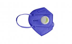 Set 5x Masca protectie N95 FFP2 KN95 Valva respiratorie Mov