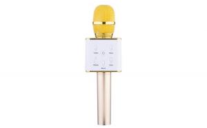 Microfon Karaoke Wireless cu Bluetooth Soundvoxtm Q7 cu Boxa inclusa, Auriu