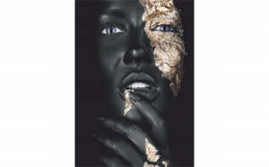 Tablou Canvas Golden Guess, 40 x 60 cm, 100% Bumbac