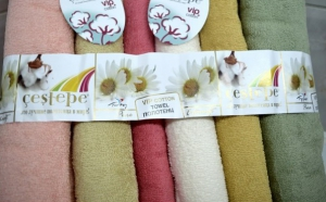 "Set 2 Prosoape Model ""Pure Cotton"", calitate superioara, 100% Bumbac , POZE REALE Marime 70x140cm, la doar 49 RON de la 90 RON"