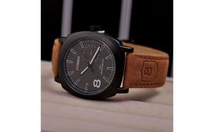 Ceas elegant pentru barbati Curren Time Sailing -Touch, cadran de 4.5 cm negru
