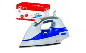 Fier de calcat cu aburi. talpa inox ZILAN ZLN-8434. 2200W. Sistem pulverizare spray. Functie anticalcar. Functie autocuratare