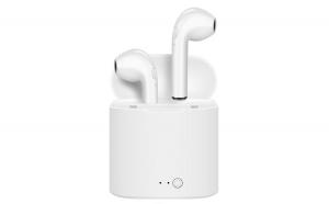 Casti audio wireless cu bluetooth i7S, tip in-ear, pentru IOS si Android