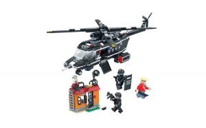Set de construit Elicopter,City Swat 582 piese