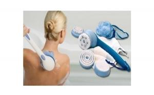 Perie pentru dus Spin Spa - cu 5 capete interschimbabile pentru masaj