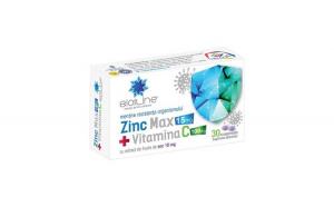 Zinc MAX + Vitamina C 100 mg 30 cpr