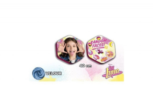 PERNA DECORATIVA RANDOM FACES SOY LUNA