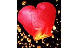 Lampion colorat in forma de inimioara