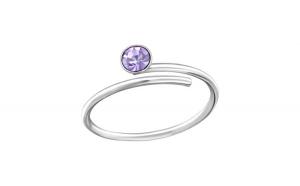 Inel de picior din argint, Sarma, Cristal Violet, A4S33422