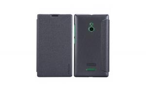 Husa Nokia XL Dual Nillkin Sparkle Flip Negru