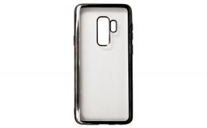 Husa Huawei P20 Lite Flippy Transparent cu Margini Negre