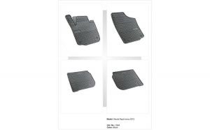 Covoare cauciuc SKODA RAPID 2012-> ( 0364 P50 )