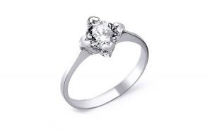 Inel elegant argint 925 rodiat cu inimioare si zirconiu alb   Be in Love