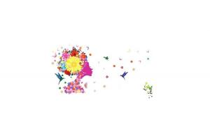 Sticker decorativ, Girl Butterfly 140