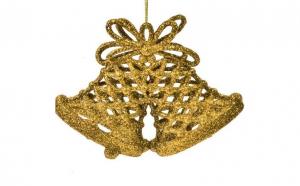 Ornament de pom de Craciun Clopot de aur