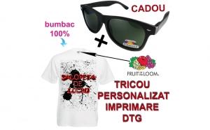 "Tricou personalizat ""Salopeta de Lucru""+ ochelari de soare polarizati, cadou"